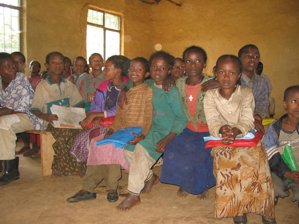 Children in a classroom in Yirgacheffe, Ethiopia.