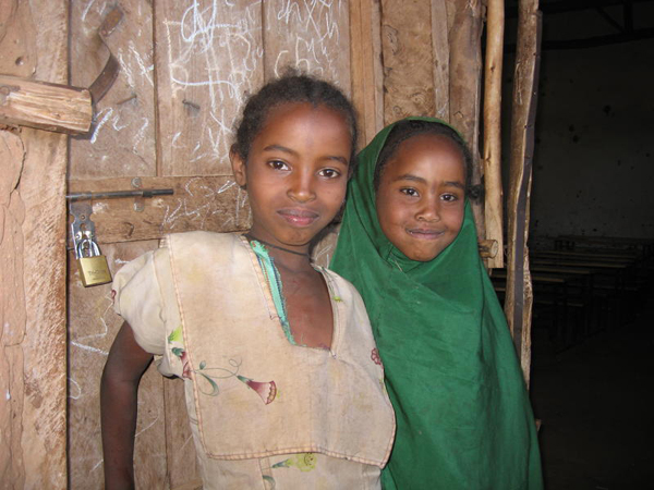 Ayantu and Oromia Ibrahim, two sisters who now go to school.