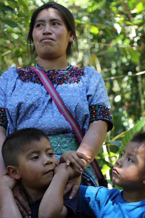 Sebastiana Martinez Gomez with her two small boys.